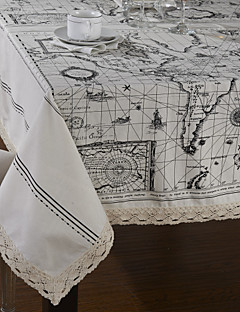 World Map Stil Table Cloth