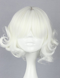 Lolita Wigs Gothic Lolita Lolita Short / Curly White Lolita Wig 30 CM Cosplay Wigs Solid Wig For Women