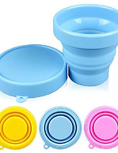 bomboane de culoare silicon ceașcă de pliere 170 ml (culoare aleatorii)