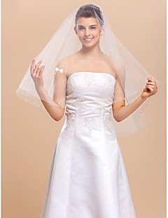 One-tier Elbow Wedding Veil Med Cut Edge