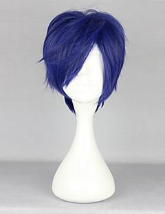 Cosplay Wigs Free! Rei Ryugazaki Blue Short Anime Cosplay Wigs 35 CM Heat Resistant Fiber Male