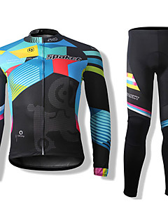 SPAKCT Cycling Jersey with Tights Unisex Long Sleeve Bike Sleeves Clothing SuitsThermal / Warm Quick Dry Windproof Front Zipper Dust
