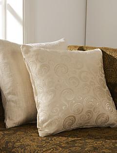 Conjunto de 2 Polyester fronha decorativa geométrica Sólidos