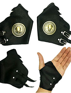 Gloves Festival/Holiday Halloween Costumes Golden / Black Halloween / Carnival Unisex Polyurethane Leather