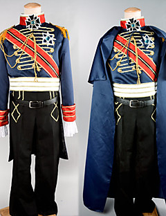 Cosplay Costumes / Party Costume Soldier/Warrior / Career Costumes Festival/Holiday Halloween Costumes Black PatchworkCoat / Pants / Belt