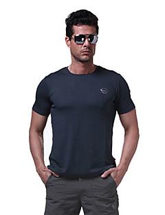 Men's T-shirt Camping / Hiking / Fishing / Climbing / Racing / Leisure Sports / Cycling/Bike Breathable / Quick Dry Summer Green / GrayM
