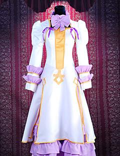 Inspirerad av Pandora Hearts Alice Animé Cosplay Kostymer/Dräkter cosplay Suits Lappverk Vit Klänning