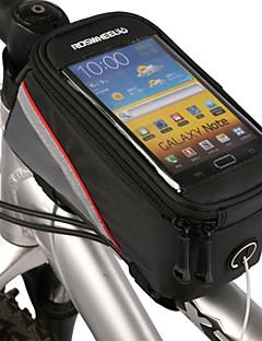 ROSWHEEL® Bolsa de BicicletaBolsa para Quadro de Bicicleta / Bolsa Celular Sensível ao Toque / Telefone Bolsa de Bicicleta PVCBolsa de
