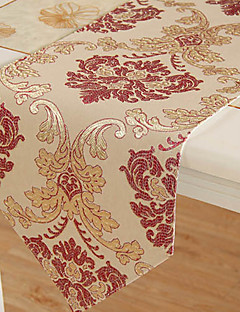 European Style Red and Golden Floral Table Runner