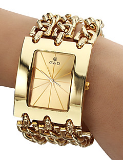 Masculino Relógio Elegante Quartzo Quartzo Japonês Banda Luxuoso Dourada Dourado Branco