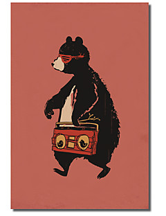 Reproduction transférée sur toile Art Animalier Boombox ours par Budi Satria Kwan