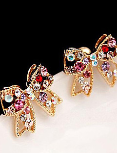 Women's Stud Earrings Love Cute Style Luxury Costume Jewelry Rhinestone Alloy Bowknot Jewelry For Party Daily Casual