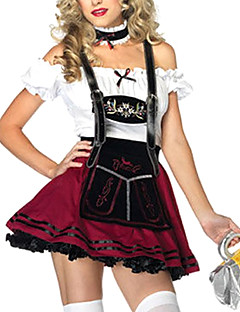 Oktoberfest Pivo Girl Red Wine ramínek Maid Uniform