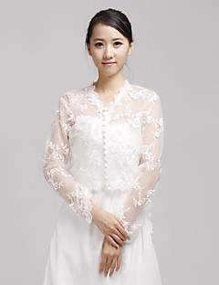 Wedding  Wraps Coats/Jackets Long Sleeve Lace Ivory Wedding / Party/Evening / Casual