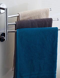 Contemporain 3 Bars rotatif Chrome Towel Bar