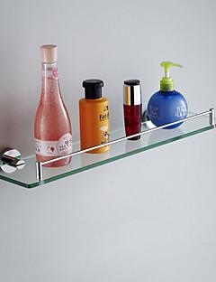 Bathroom Shelf Chrome Wall Mounted 52*12*5cm (20.5*4.7*2inch) Brass / Glass Contemporary