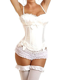 Fashionable White Corset with Bowknots