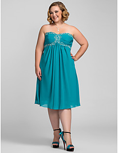 Homecoming Cocktail Party/Homecoming/Holiday Dress - Jade Plus Sizes A-line Sweetheart/Strapless Knee-length Chiffon