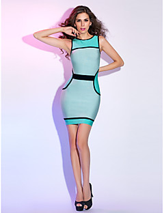 Cocktail Party / Holiday Dress - Multi-color Petite Sheath/Column Jewel Short/Mini Knitwear