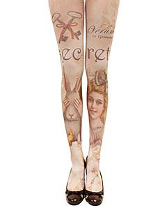 čarape Sweet Lolita Lolita Lolita Braon Lolita Pribor Stockings Print Za Žene Pamuk / Polyester