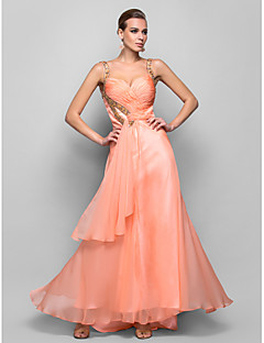 Formal Evening/Prom/Military Ball Dress - Pearl Pink A-line/Princess Straps Floor-length Chiffon