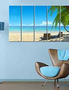 Stretched Canvas Art Landscape Seaside Time Set of 5