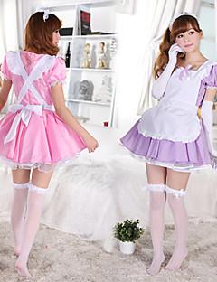 manicotto di soffio ragazza carina grembiule bianco di cotone cameriera uniforme