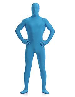 Cerulean Blue Unisex Lycra Full Body Zentai