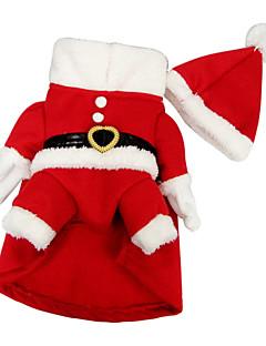Hunde Kostüme / Mäntel / Austattungen Rot Hundekleidung Winter Weihnachten Cosplay / Weihnachten / Halloween