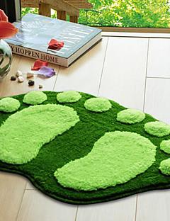"""Badteppich Footprint Pattern 16x24 """"Green"""