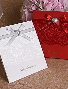 Hochzeits-Einladungen Oberseite gefaltet Einladungskarten Unpersonalisierte 12 Stück / Set