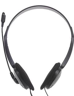 e800 auriculares de 3,5 mm sobre el oído estéreo de alta fidelidad con micrófono para PC / escritorio