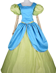 Cosplay Costumes / Party Costume Fairytale Festival/Holiday Halloween Costumes Blue Patchwork Dress Halloween / Carnival Female Satin