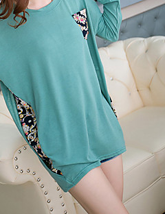 Mengsier Chiffon Stitching Large Size Women T-Shirts A1042