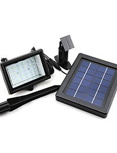 ソーラーパワー超高輝度30 LEDガーデンフラッドスポットライト芝生クールホワイトランプ(シス57217)