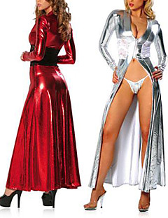 2 Color Deluxe PU Leather Women's Stage Costume