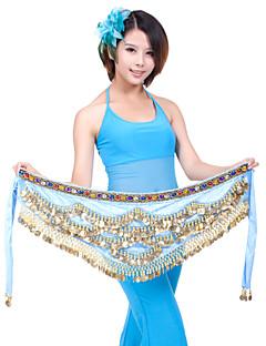 ריקוד בטן חגורה בגדי ריקוד נשים אימון פוליאסטר חרוזים / מטבעות חלק 1 צעיף מותניים לריקודי בטן