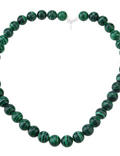 Vintage okrugli oblik Green malahita DIY perle (35 ~ 40 PCS)