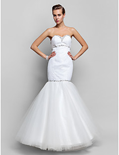 Military Ball / Prom / Formal Evening Dress - Ivory Plus Sizes / Petite Trumpet/Mermaid Sweetheart Floor-length Tulle / Sequined