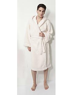 Bademantel, 100% Baumwolle Man White Solid Farbe Short Garment verdicken