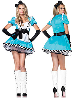 Cosplay Kostuums Feestkostuum Dienstmeisje Pakken carrière Kostuums Festival/Feestdagen Halloweenkostuums Wit Blauw PatchworkKleding