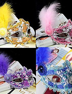 Fancy Medieval Masquerade PVC Venetian Mask Halloween Props Cosplay Accessories