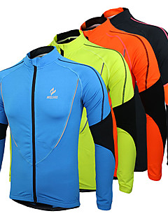 Arsuxeo Cycling Jacket Men's Bike Jersey Tops Breathable Thermal / Warm Fleece Lining Polyester Fleece PatchworkLeisure Sports