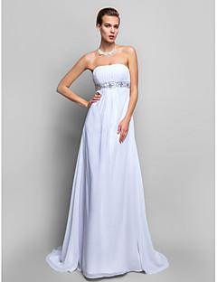 칼집 / 칼럼 끈이없는 청소 / 브러쉬 기차 쉬폰 이브닝 드레스 (682736)