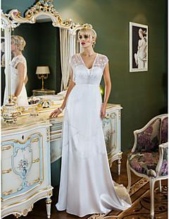 Lanting Bride® Tubinho Pequeno / Tamanhos Grandes Vestido de Noiva - Clássico e atemporal / Glamouroso e Dramático Inspiração Vintage