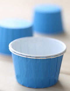Solid Color Paper Cupcake Wrappers Med Turnup-Set med 50 (fler färger)