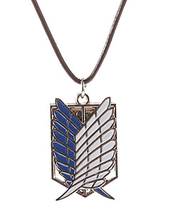 Jewelry Inspired by Attack on Titan Cosplay Anime Cosplay Accessories Necklace / Wings White / Blue Male / Female