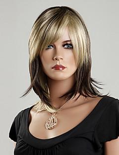 100% japansk Kanekalon Syntetisk Rett Wig (Mixed Color)