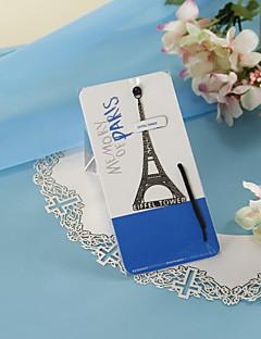 은신처 밧줄로 짜 개진 조각 에펠 탑 책갈피