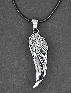 Wing Pattern Silver Necklace